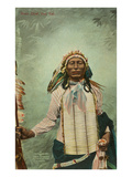 Iron Tail, Sioux Chief Premium Giclee Print
