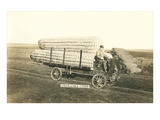 Giant Ears of Corn on Wagon, Nebraska Poster