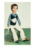 Boy Doll in Sweater Vest Posters