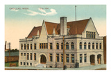 City Hall, Cadillac, Michigan Prints