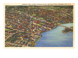 Aerial View, Elizabeth City, North Carolina Prints