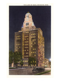 Night, Mayo Clinic, Rochester, Minnesota Prints