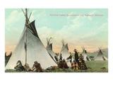 Kootenai Encampment near Kalispell, Montana Prints