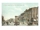 O Street and 10th, Lincoln, Nebraska Prints