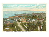 Overview of St. Ignace, Michigan Prints