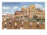 Bikes on Boardwalk, Atlantic City, New Jersey Prints