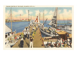 Fishing Docks, Atlantic City, New Jersey Poster