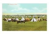 Northern Plains Sundance Camp, Montana Prints