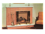 Brick Fireplace Prints