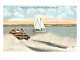 Water Sports, Morehead City, North Carolina Print