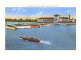 Yacht Club, Detroit, Michigan Prints