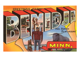 Greetings from Bemidji, Minnesota Poster