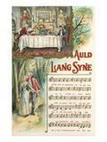 Auld Lang Syne Sheet Music Print