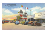 Street Scene in Juarez, Mexico, Thirties Posters