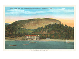 Lake Lure Inn, Chimney Rock Mountain, Asheville, North Carolina Print