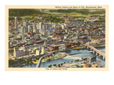 Milling District and Downtown Minneapolis, Minnesota Prints
