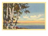 Flathead Lake near Kalispell, Montana - Poster