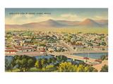 View over Juarez, Mexico Prints