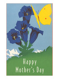 Happy Mothers Day, Flowers and Butterflies Prints