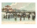 Lac gelé, Belle Isle, Detroit, Michigan Poster
