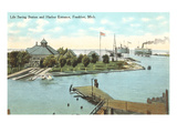 Harbor Entrance, Frankfort, Michigan Posters