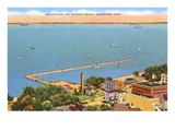 Breakwater, Menominee, Michigan Posters