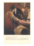 Romance at the Piano Prints