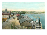 Boat Docks, St. Paul, Minnesota Prints