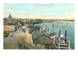 Boat Docks, St. Paul, Minnesota Posters