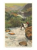 Morning Eagle Falls, Glacier Park, Montana Plakát