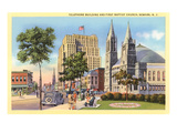 Telephone Building and Baptist Church, Newark, New Jersey Posters