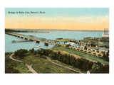 Bridge to Belle Isle, Michigan Prints
