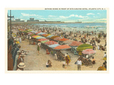 Beach Scene, Atlantic City, New Jersey Posters