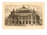 Paris Opera House Etching Posters