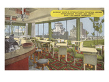 Cocktail Lounge Overlooking Sault Ste. Marie, Michigan Prints