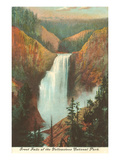 Great Falls, Yellowstone Park, Montana Giclée-Premiumdruck