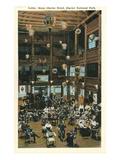 Lobby, Many Glacier Hotel, Glacier Park, Montana Prints