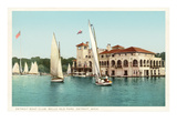 Sailboats, Belle Isle, Detroit, Michigan Print