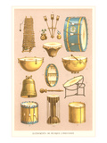 Variety of Percussion Instruments Posters