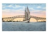 Schooner, Bridge, Port Huron, Michigan Prints