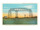 Aerial Bridge, Duluth Harbor, Michigan Prints