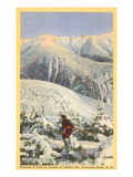 Skiing, Mt. Cannon, Franconia Notch, New Hampshire Prints