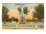 Memorial Fountain, Detroit Zoological Park, Michigan Prints