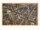Aerial View of Newark, New Jersey Kunstdruck