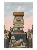 Chalchiutlicue Statue, National Museum, Mexico City Posters