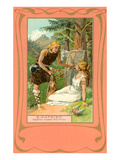 Scene from Siegfried, Siegfried wakes Brunnhilde Poster