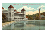 Waterworks at Goguac Lake, Battle Creek, Michigan Posters