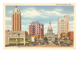 Skyline, Lansing, Michigan Kunstdrucke