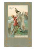 Scene from Wagner's Lohengrin Print