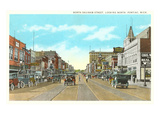 North Saginaw Street, Pontiac, Michigan Posters